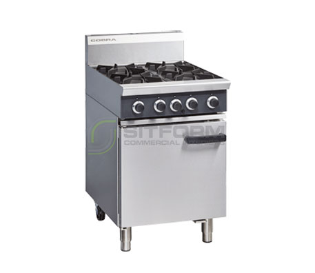 Cobra CR6D – 600mm Four Burner Gas Range Static Oven | Commercial Equipment
