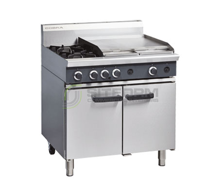 Cobra CR9B – 900mm Two Burner / Griddle Gas Range Static Oven | Ranges