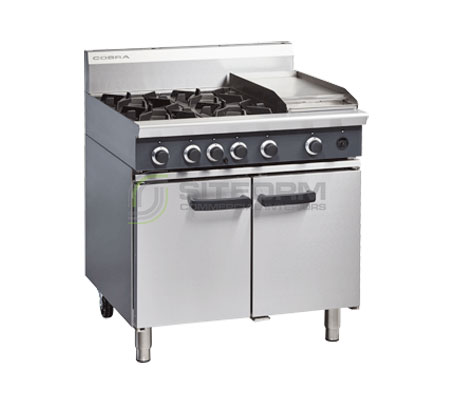 Cobra CR9C – 900mm Four Burner / Griddle Gas Range Static Oven | Ranges