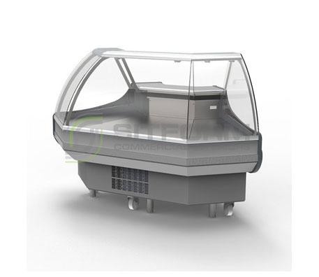 Bromic – DD0090CG Curved Glass Delicatessen Display   Delicatessen Displays