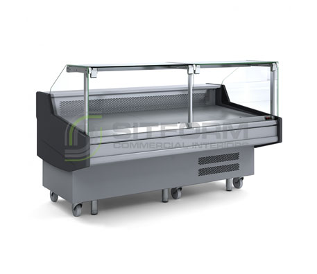 Bromic – DD0200SG Square Glass Delicatessen Display | Delicatessen Displays