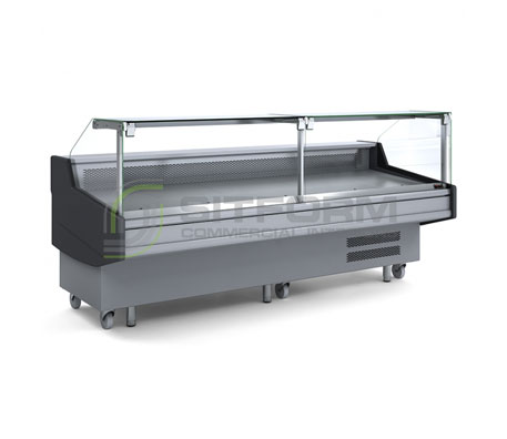 Bromic- DD0300SG Square Glass Delicatessen Display | Delicatessen Displays