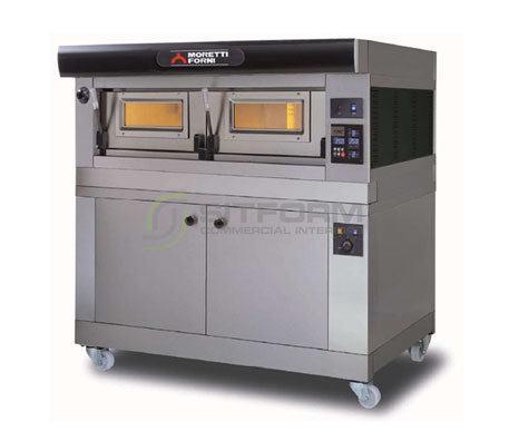 Moretti Forni Professional –  COMP P120E A1 PROVER Single Deck Modular ElectricOven with Dual Chamber and Prover   Deck Ovens