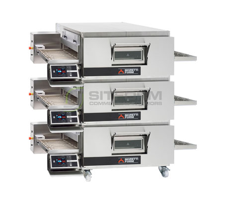 Moretti Forni Professional T75E TRIPLE Deck Conveyor Oven – Electric | Conveyor Ovens