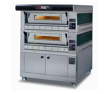 Moretti Professional COMP P110G A/2 PROVER – Double Deck Gas Deck Oven with Prover | Deck Ovens