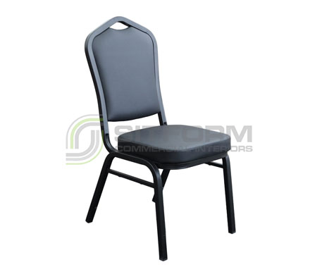 Florence Chair – Black Vinyl / Black Frame | Chairs
