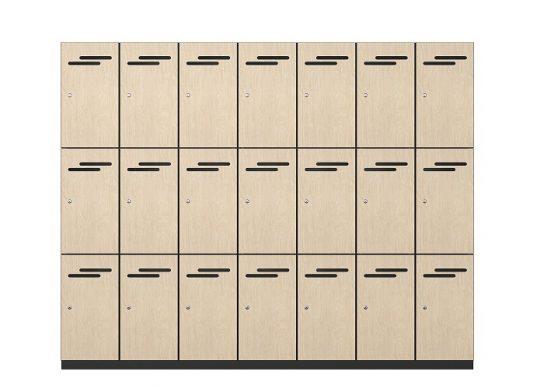 3 Door Melamine Lockers   Lockers