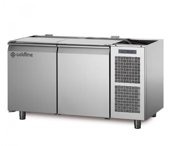 Coldline TZS13/1M – 2 Door Pizza Prep Bench, No Top | Food Preparation