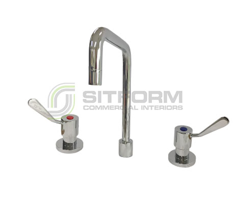 Acqualine – AQD3300CB Deck Mount 300mm Swing Faucet | Tapware & Sinks | Restaurant & Kitchen Equipment