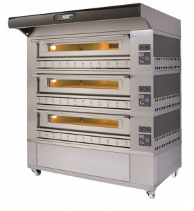 Moretti Professional COMP P150G A/3 – Triple Deck Gas Oven | Deck Ovens