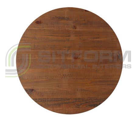 Pollas Table Top Rustic RD 700mm – Walnut | Commercial Table Tops | Commercial Furniture & Fit Outs