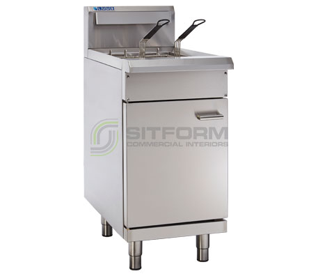 Luus  Professional Series FSV-45 – 450mm Split Pan Fryer – 2 Basket | Fryers