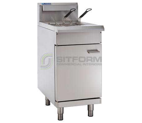 Luus  Professional Series FSV-45 – 450mm Split Pan Fryer – 2 Basket | Commercial Fryers