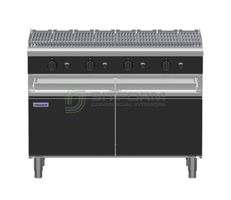 Waldorf Bold CHLB8120G-CD – 1200mm Gas Chargrill – Cabinet Base | Char Grills & Barbecues