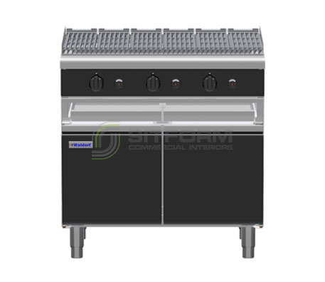 Waldorf Bold CHLB8900G-CD – 900mm Gas Chargrill Low Back Version – Cabinet Base | Char Grills & Barbecues