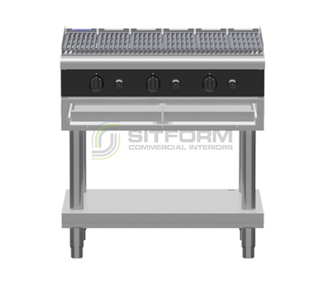 Waldorf Bold CHLB8900G-LS – 900mm Gas Chargrill Low Back Version – Leg Stand | Char Grills & Barbecues