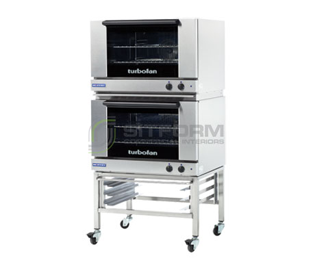Turbofan E27M2/2 – Full Size Tray Manual Electric Convection Ovens Double Stacked | Convection Ovens