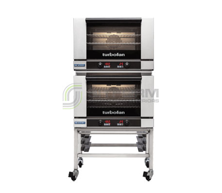 Turbofan E27D3/2C – Full Size -Digital Electric Convection Ovens – Double Stacked – on a Stainless Steel Base Stand | Convection Ovens