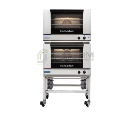 Turbofan E27M3/2C – Full Size Tray – Manual Electric Convection Oven – Double Stacked -With Castor Base Stand | Convection Ovens