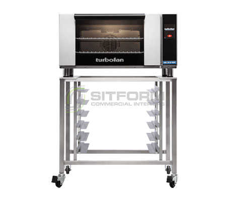 Turbofan E27T2 – Full Size Electric Convection Oven Touch Screen Control on a Stainless Steel Stand | Convection Ovens