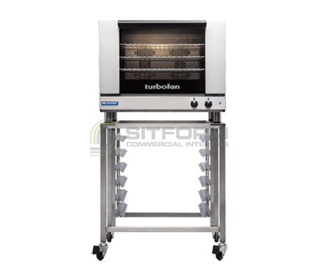 Turbofan E28M4/2C – Full Size Tray – Manual Electric Convection Ovens Double Stacked – With Castor Base Stand | Convection Ovens