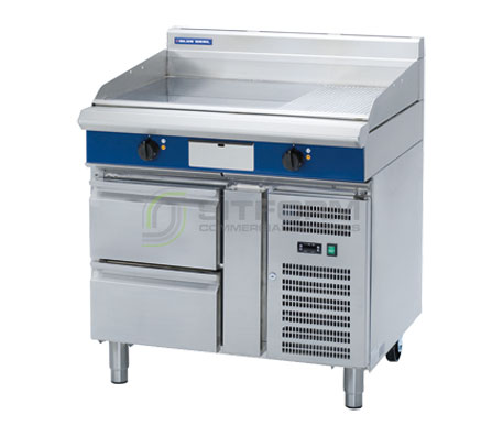Blue Seal Evolution Series EP516-RB – 900mm Griddle on Refrigerated Base – Electric | Griddles