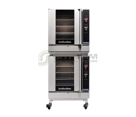 Turbofan G32D4/2C – Full Size Tray – Digital Gas Convection Ovens – Double Stacked With Castor Base Stand | Convection Ovens