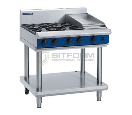 Blue Seal Evolution Series G516C-LS – 900mm Gas Cooktop Leg Stand | Cooktops