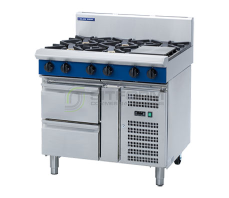 Blue Seal Evolution Series G516D-RB – 900mm Gas Cooktop Refrigerated Base | Cooktops