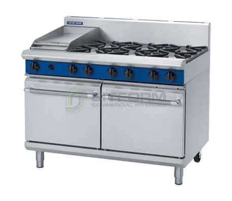 Blue Seal Evolution Series G528C – 1200mm Gas Range Double Static Oven | Ranges