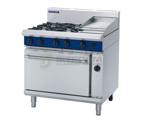 Blue Seal Evolution Series GE56C – 900mm Gas Range Electric Convection Oven | Ranges