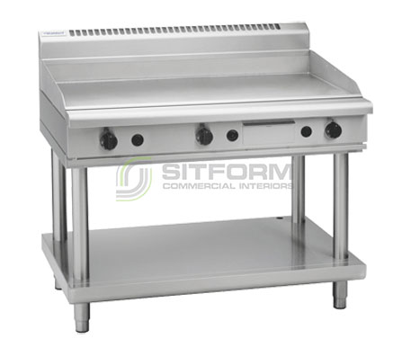 Waldorf 800 Series GP8120G-LS – 1200mm Gas Griddle Leg Stand | Griddles
