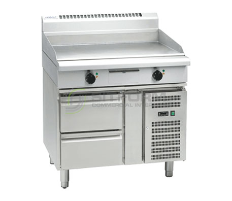 Waldorf 800 Series GP8900E-RB – 900mm Electric Griddle – Refrigerated Base | Griddles