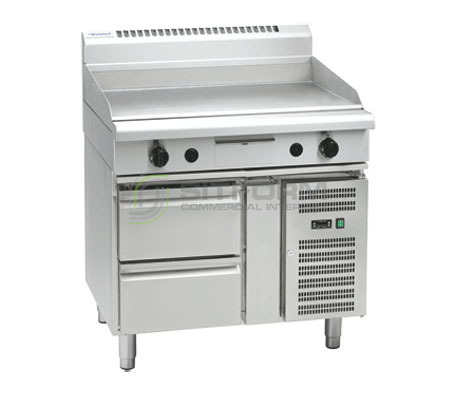 Waldorf 800 Series GP8900G-RB – 900mm Gas Griddle Refrigerated Base | Griddles