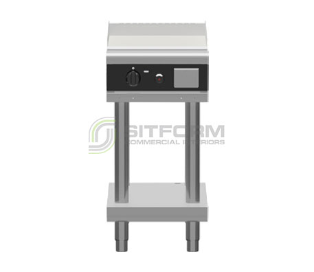 Waldorf Bold GPLB8450G-LS – 450mm Gas Griddle Low Back Version – Leg Stand | Griddles