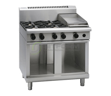 Waldorf 800 Series RN8603G-CB – 900mm Gas Cooktop Cabinet Base | Cooktops