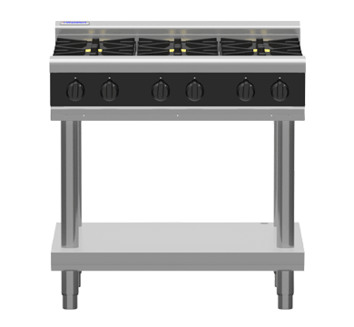 Waldorf Bold RNLB8600G-LS – 900mm Gas Cooktop Low Back Version – Leg Stand | Cooktops