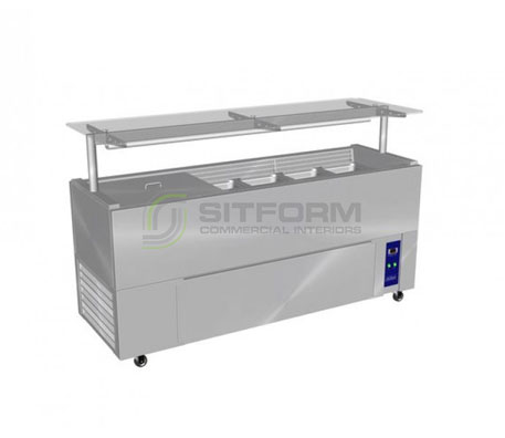 Culinaire CR.IB.CLCBF.GCF – Chillair Refrigerated Island Buffet – Flat Glass Gantry | Island Buffets