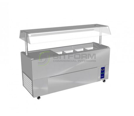 Culinaire CR.IB.CLCBF.GCP – Chillair Refrigerated Island Buffet – with Perspex Gantry | Island Buffets