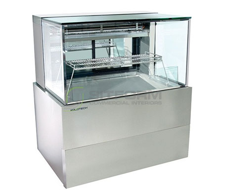 Koldtech – SQRCD.12.SF Square Refrigerated Seafood Display Cabinet | Floor Standing - Cold Displays
