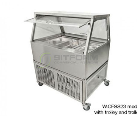 Woodson W.CFSS25 – 5 Module Self Serve Cold Food Display | Floor Standing - Cold Displays