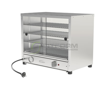 Woodson W.PIA50 – 50 Pie Capacity (Single side Glass sliding door) | Hot Food Displays