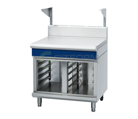 Blue Seal Evolution Series B90S-CB – 900mm Bench Top With Salamander Support Cabinet Base | Work Benches | Restaurant & Kitchen Equipment