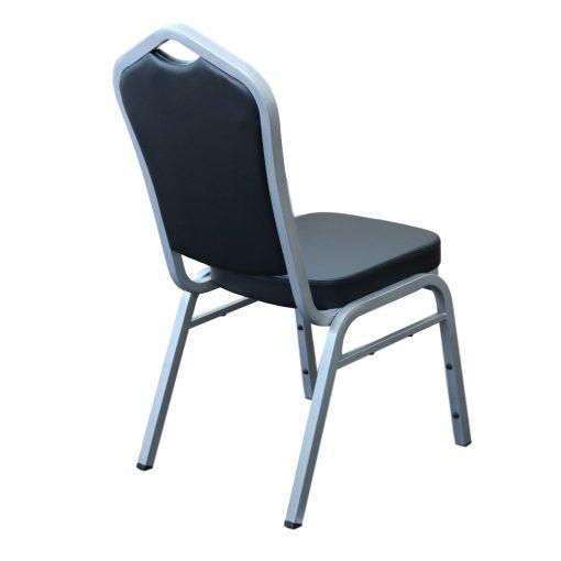 Florence Chair – Black Vinyl / Black Frame | Chairs