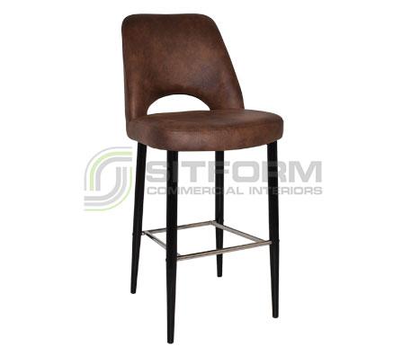 Maya Stool – 750 Metal Black Frame – Eastwood Fabric Upholstery | Stools