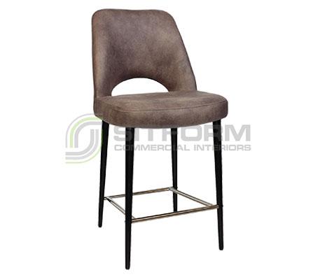 Maya Stool – 650 Metal Black Frame – Eastwood Fabric Upholstery | Stools