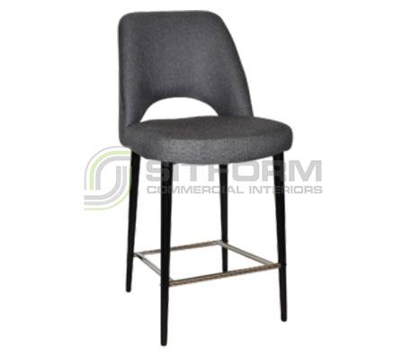 Maya Stool – 650 Metal Black Frame – Gravity Fabric Upholstery | Stools