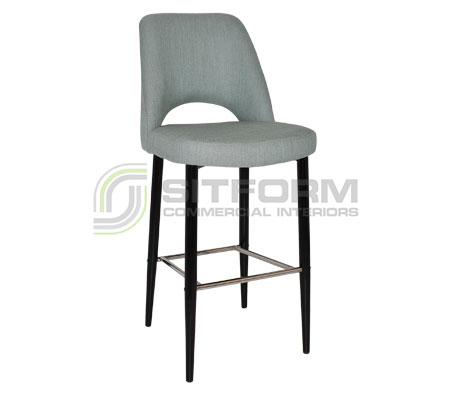 Maya Stool – 750 Metal Black Frame – Gravity Fabric Upholstery | Stools