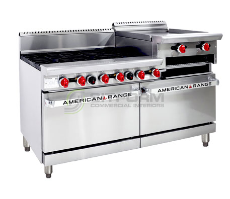 American Range Combination Oven Range AAR.6B.24RG – Gas | Ranges
