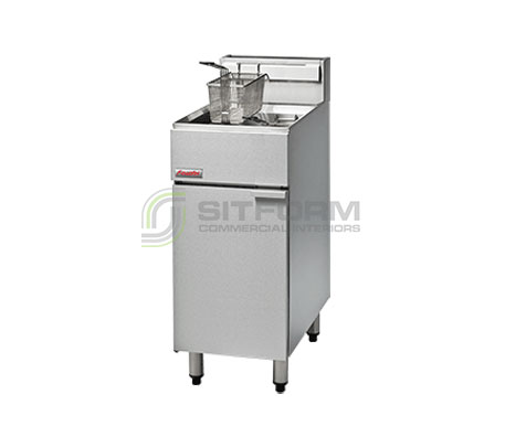 FastFri FF18 – 400mm Gas Deep Fryer – Single Pan | Commercial Equipment